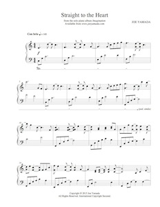 straight to the heart - sheet music