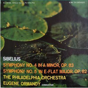 sibelius: symphonies nos. 4 & 5 - philadelphia orchestra/eugene ormandy