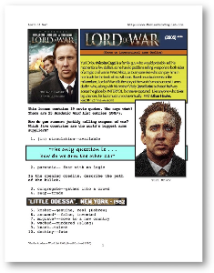 lord of war, whole-movie english (esl) lesson