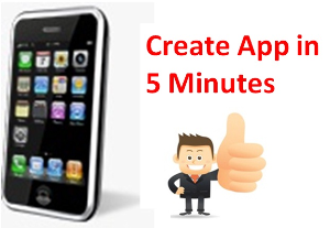 instant iphone app builder-create iphone apps in 5 minutes. no coding!