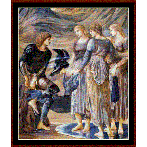 perseus and the sea nymphs - burne-jones cross stitch pattern by cross stitch collectibles