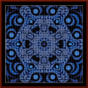 fractal 476 cross stitch pattern by cross stitch collectibles