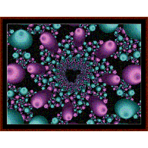 Fractal 484 cross stitch pattern by Cross Stitch Collectibles | Crafting | Cross-Stitch | Wall Hangings