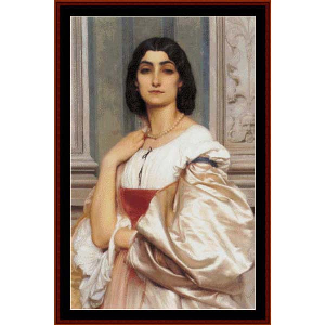 a roman lady, 1858 - leighton cross stitch pattern by cross stitch collectibles
