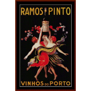 Ramos Pinto - Vintage Poster cross stitch pattern by Cross Stitch Collectibles | Crafting | Cross-Stitch | Other