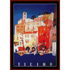 Ticino - Vintage Poster cross stitch pattern by Cross Stitch Collectibles | Crafting | Cross-Stitch | Wall Hangings