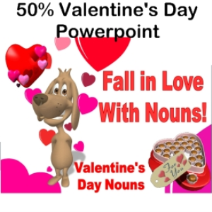 50% off fall in love with nouns powerpoint