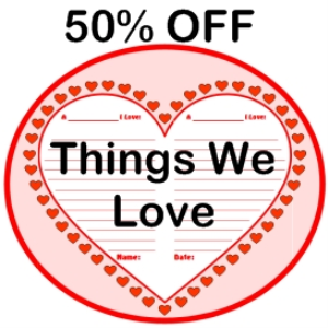 50% off things we love