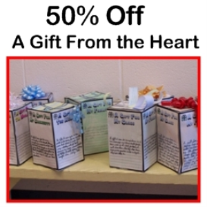 50% off gift from the heart 3d box