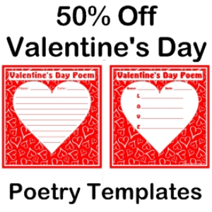 50% off valentine's day poem set