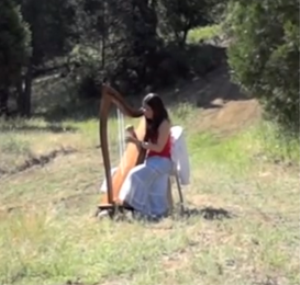 """simple gifts"" sheet music (arranged for celtic harp)"