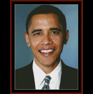 president barack obama limited edition cross stitch pattern by cross stitch collectibles