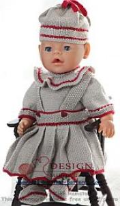 dollknittingpatterns -0122d heidi - bluse, skjørt, bukse, sokker og lue  (norsk)
