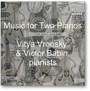 music for two pianos - vitya vronsky & victor babin, pianists