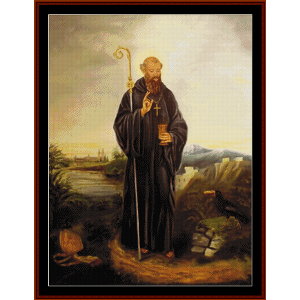 st. benedict cross stitch pattern by cross stitch collectibles