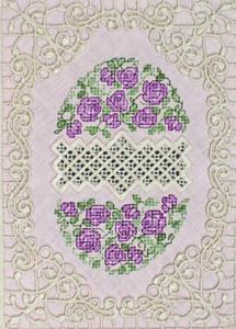 Hardangish Egg 1 - ART   Crafting   Embroidery