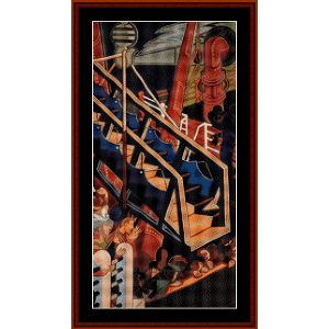 departure of immigrants, center - almada negreiros cross stitch pattern by cross stitch collectibles