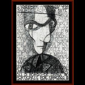 self portrait - almada negreiros cross stitch pattern by cross stitch collectibles