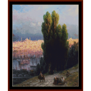 constantinople, 1880 - aivazovsky cros stitch pattern by cross stitch collectibles
