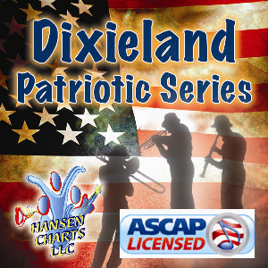 god bless america arranged for dixieland band with optional satb choir or singalong