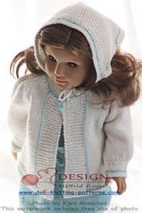 DollKnittingPatterns - 0123D CELINE Blouse, Skirt, Jacket, Leggings, Headscarf og Socks-(English)   Crafting   Knitting   Other