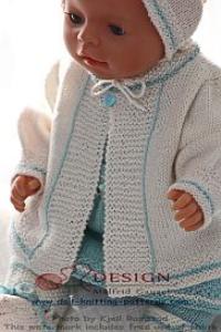 dollknittingpatterns - 0123d celine - kurzärmelige bluse, rock, jacke, leggings, kopftuch und socken (deutsch)