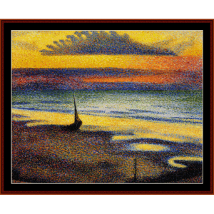 on the beach - lemmen cross stitch pattern by cross stitch collectibles