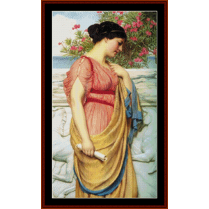 Sappho - Godward cross stitch pattern by Cross Stitch Collectibles | Crafting | Cross-Stitch | Wall Hangings
