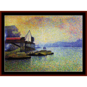 View of the Thames - Cross cross stitch pattern by Cross Stitch Collectibles | Crafting | Cross-Stitch | Wall Hangings