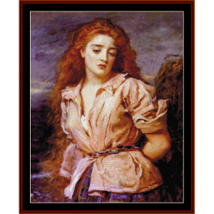 Matyr of Solway - Millais cross stitch pattern by Cross Stitch Collectibles | Crafting | Cross-Stitch | Wall Hangings