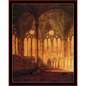 Salisbury Cathedral - Turner cross stitch pattern by Cross Stitch Collectibles | Crafting | Cross-Stitch | Wall Hangings