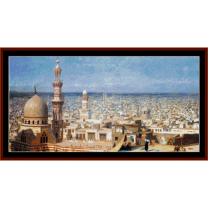 View of Cairo cross - Gerome cross stitch pattern by Cross Stitch Collectibles | Crafting | Cross-Stitch | Wall Hangings