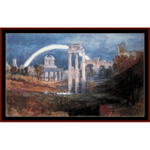 Roman Forum with Rainbow - Turner cross stitch pattern by Cross Stitch Collectibles | Crafting | Cross-Stitch | Wall Hangings