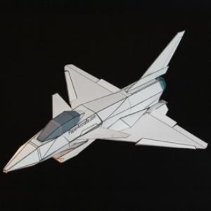 paper chengdu j-10 white
