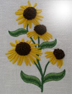 Coneflower Impressions - HUS | Crafting | Embroidery