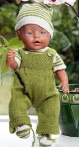 dollknittingpattern 0009d joanne et john - pantalons, pull à manches courtes, veste à capuche bonnet et  chaussons-(français)
