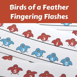 birds of a feather fingering flashes