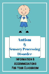 autism and spd info. and accommodations for school mini-book