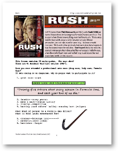 rush, whole-movie english (esl) lesson