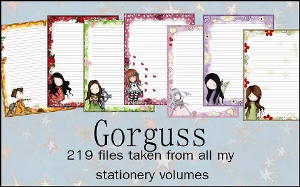 Printable Stationary Designs Custom Stationary Selection Volume Gorjuss | Other Files | Graphics