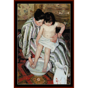 La Toilette - Cassatt cross stitch pattern by Cross Stitch Collectibles | Crafting | Cross-Stitch | Wall Hangings