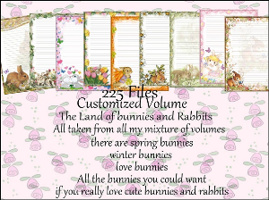 """Printable Stationery Designs: Custom Stationery Selection Volume """"Bunnies And Rabbits"""" 