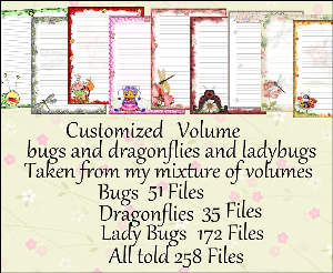"printable stationery designs: custom stationery selection volume ""bugs, dragonflies & ladybugs"""