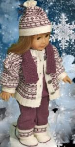 dollknittingpattern 0124d june - sweater, dress, pants, hairband and shoes -(english)