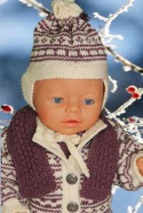 dollknittingpatterns -0124d june - jacke, anzug, mütze, schal und schuhe-(deutsch)