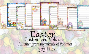 "printable stationery designs: custom stationery selection volume ""easter"""