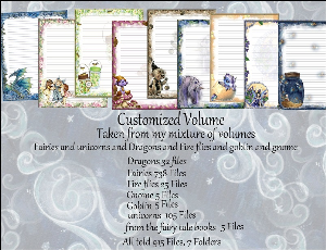 "printable stationery designs: custom stationery selection volume ""fairies ,unicorns & dragons, fire flies, goblin & gnomes"""