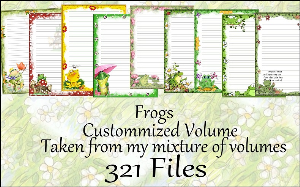 "printable stationery designs: custom stationery selection volume ""frogs"""