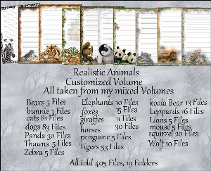 """Printable Stationery Designs: Custom Stationery Selection Volume """"Animals Realistic"""" 