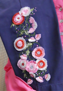 Fimbria Flowers 5x7 - DST | Crafting | Embroidery